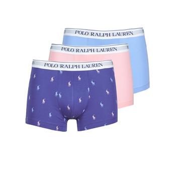Spodná bielizeň Muži Boxerky Polo Ralph Lauren CLASSIC TRUNK X3 Ružová / Modrá / Námornícka modrá
