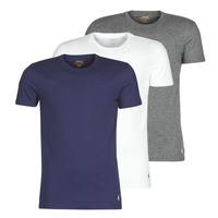 Oblečenie Muži Tričká s krátkym rukávom Polo Ralph Lauren SS CREW NECK X3 Námornícka modrá / Šedá / Biela