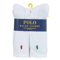 Doplnky Muži Ponožky Polo Ralph Lauren ASX110 6 PACK COTTON Biela
