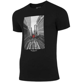 Oblečenie Muži Tričká s krátkym rukávom 4F TSM020 Čierna