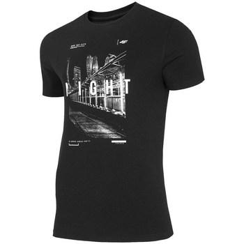 Oblečenie Muži Tričká s krátkym rukávom 4F TSM025 Čierna