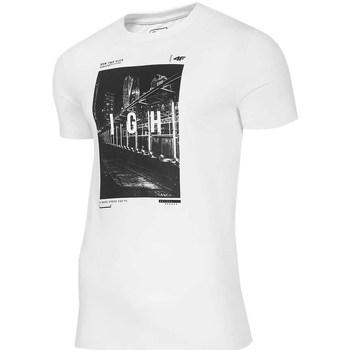 Oblečenie Muži Tričká s krátkym rukávom 4F TSM025 Biela