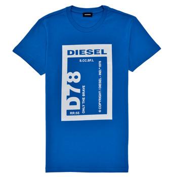 Oblečenie Chlapci Tričká s krátkym rukávom Diesel TFULL78 Modrá