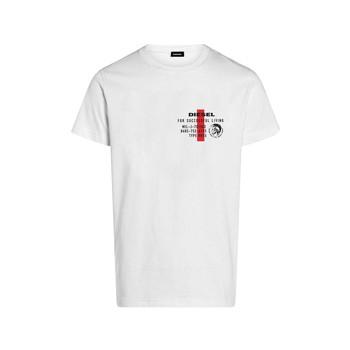 Oblečenie Chlapci Tričká s krátkym rukávom Diesel TDIEGOS Biela