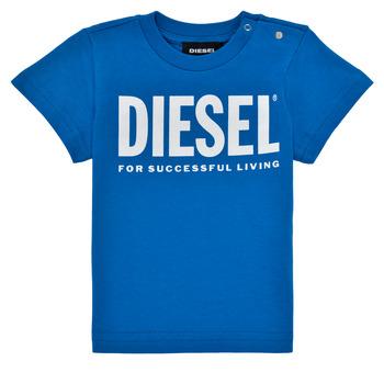 Oblečenie Chlapci Tričká s krátkym rukávom Diesel TJUSTLOGOB Modrá