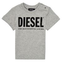 Oblečenie Deti Tričká s krátkym rukávom Diesel TJUSTLOGOB Šedá