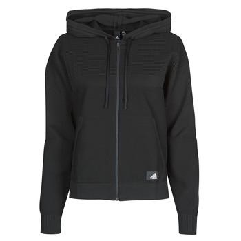 Oblečenie Ženy Mikiny adidas Performance W Knit V Hoodie Čierna