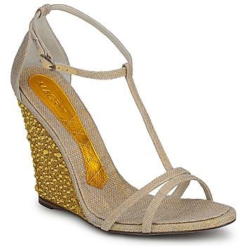 Topánky Ženy Sandále Magrit JOAQUINA Béžová / Zlatá