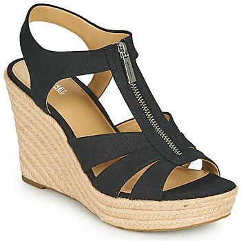 Topánky Ženy Sandále MICHAEL Michael Kors BERKLEY WEDGE Čierna