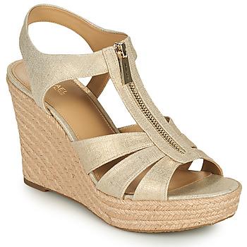 Topánky Ženy Sandále MICHAEL Michael Kors BERKLEY WEDGE Zlatá