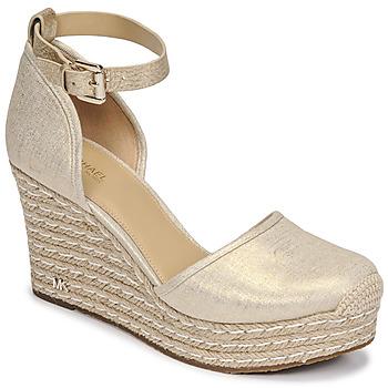 Topánky Ženy Sandále MICHAEL Michael Kors KENDRICK WEDGE Zlatá