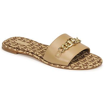 Topánky Ženy Šľapky MICHAEL Michael Kors RINA SLIDE Ťavia hnedá