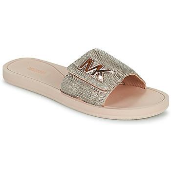 Topánky Ženy športové šľapky MICHAEL Michael Kors MK SLIDE Ružová / Svetlá telová / Zlatá