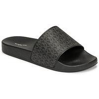 Topánky Muži športové šľapky MICHAEL Michael Kors JAKE SLIDE Čierna