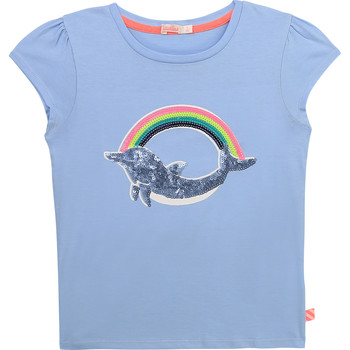 Oblečenie Dievčatá Tričká s krátkym rukávom Billieblush / Billybandit U15875-798 Modrá
