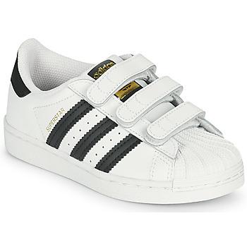 Topánky Deti Nízke tenisky adidas Originals SUPERSTAR CF C Biela / Čierna