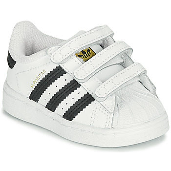 Topánky Deti Nízke tenisky adidas Originals SUPERSTAR CF I Biela / Čierna