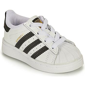 Topánky Deti Nízke tenisky adidas Originals SUPERSTAR EL I Biela / Čierna
