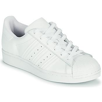 Topánky Deti Nízke tenisky adidas Originals SUPERSTAR J Biela