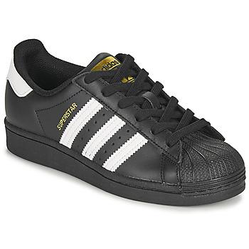 Topánky Deti Nízke tenisky adidas Originals SUPERSTAR J Čierna / Biela