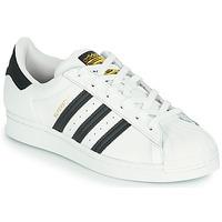 Topánky Deti Nízke tenisky adidas Originals SUPERSTAR J Biela / Čierna