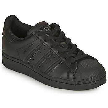 Topánky Deti Nízke tenisky adidas Originals SUPERSTAR J Čierna