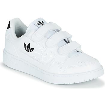 Topánky Deti Nízke tenisky adidas Originals NY 92  CF C Biela / Čierna