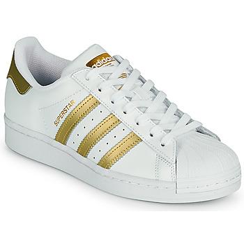 Topánky Ženy Nízke tenisky adidas Originals SUPERSTAR W Biela / Zlatá