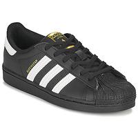 Topánky Deti Nízke tenisky adidas Originals SUPERSTAR C Čierna / Biela