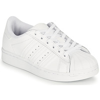 Topánky Deti Nízke tenisky adidas Originals SUPERSTAR C Biela