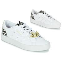 Topánky Ženy Nízke tenisky adidas Originals adidas SLEEK W Biela / Leopard