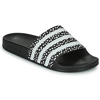 Topánky Ženy športové šľapky adidas Originals ADILETTE W Čierna / Biela