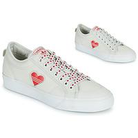 Topánky Ženy Nízke tenisky adidas Originals NIZZA  TREFOIL W Biela / Červená