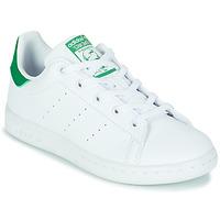 Topánky Deti Nízke tenisky adidas Originals STAN SMITH C SUSTAINABLE Biela / Zelená