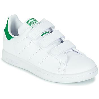 Topánky Deti Nízke tenisky adidas Originals STAN SMITH CF C SUSTAINABLE Biela / Zelená