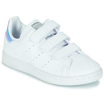Topánky Dievčatá Nízke tenisky adidas Originals STAN SMITH CF C SUSTAINABLE Biela / Perleťový