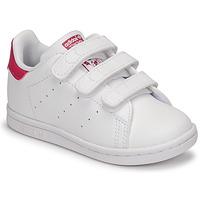 Topánky Dievčatá Nízke tenisky adidas Originals STAN SMITH CF I SUSTAINABLE Biela / Ružová