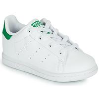 Topánky Deti Nízke tenisky adidas Originals STAN SMITH EL I SUSTAINABLE Biela / Zelená