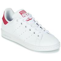 Topánky Dievčatá Nízke tenisky adidas Originals STAN SMITH J SUSTAINABLE Biela / Ružová