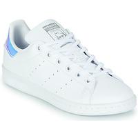 Topánky Dievčatá Nízke tenisky adidas Originals STAN SMITH J SUSTAINABLE Biela / Perleťový