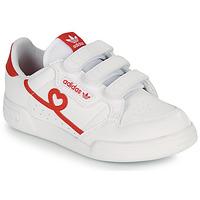 Topánky Dievčatá Nízke tenisky adidas Originals CONTINENTAL 80 CF C Biela / Červená
