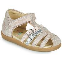 Topánky Dievčatá Sandále Shoo Pom PIKA SPART Béžová / Strieborná