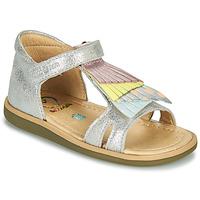 Topánky Dievčatá Sandále Shoo Pom TITY FALLS Strieborná