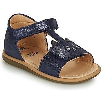 Topánky Dievčatá Sandále Shoo Pom TITY MIAOU Modrá