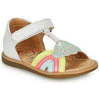 Topánky Dievčatá Sandále Shoo Pom TITY RAINBOW Biela