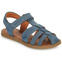 Topánky Chlapci Sandále Shoo Pom SOLAR TONTON Modrá
