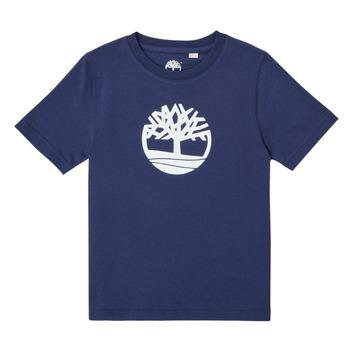 Oblečenie Chlapci Tričká s krátkym rukávom Timberland TRISTA Modrá