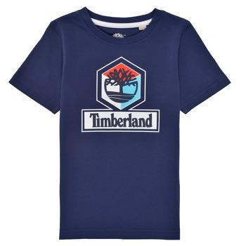 Oblečenie Chlapci Tričká s krátkym rukávom Timberland GRISS Námornícka modrá