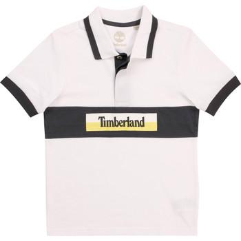 Oblečenie Chlapci Polokošele s krátkym rukávom Timberland DOTTO Biela