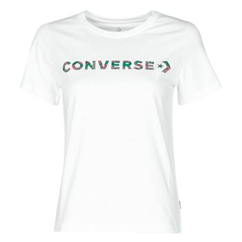 Oblečenie Ženy Tričká s krátkym rukávom Converse CENTER FRONT ICON CLASSIC TEE Biela